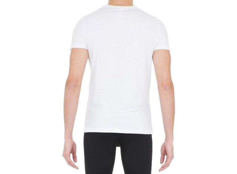 HOM Supreme Cotton Tee-Shirt V Neck White