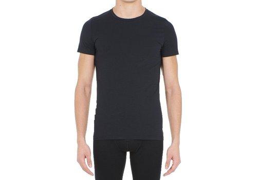 HOM Supreme Cotton Tee-Shirt Crew Neck Black