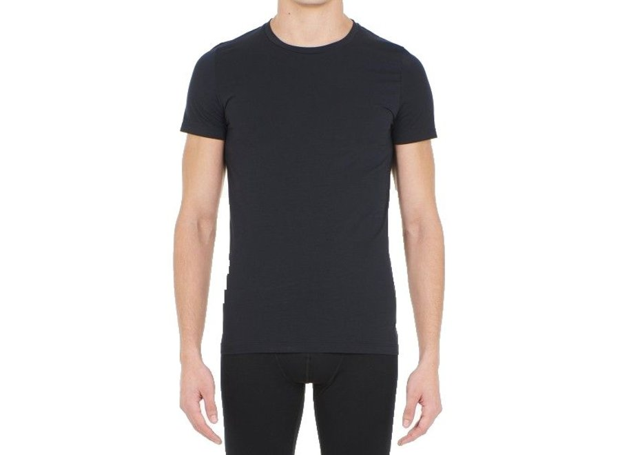 HOM Supreme Cotton Tee-Shirt Crew Neck Black