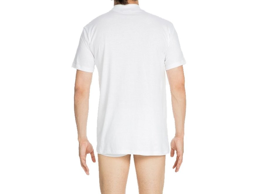 HOM Harro New Tee-Shirt Crew Neck White-Light Combination