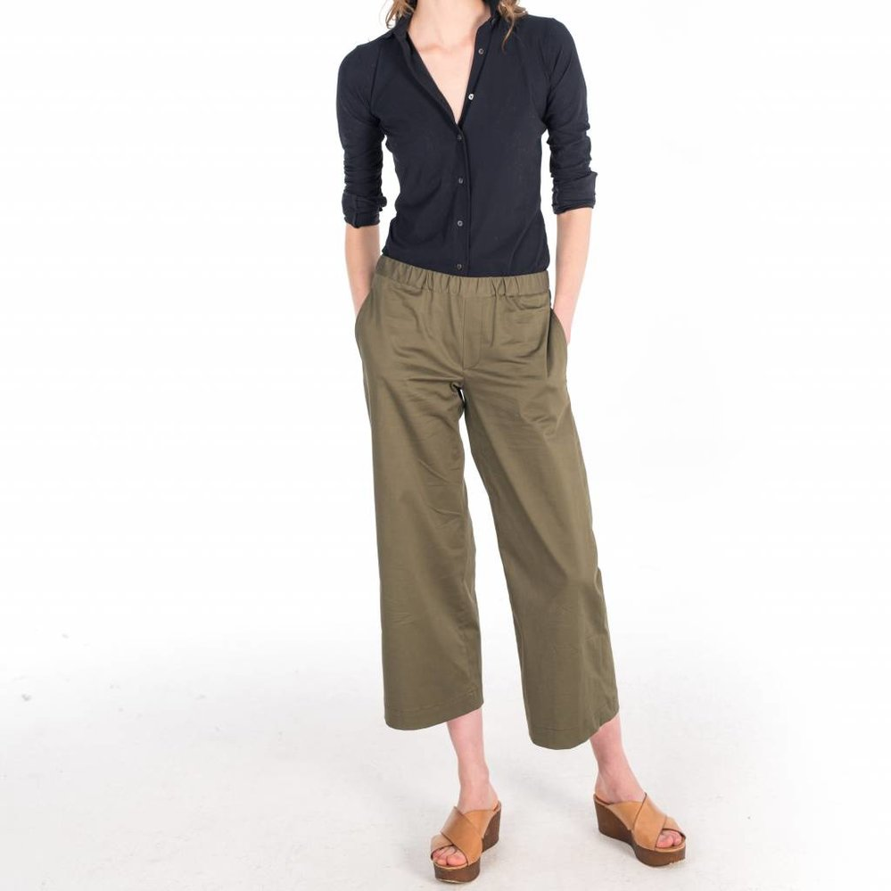 Smart Casual  wide leg cropped trouser