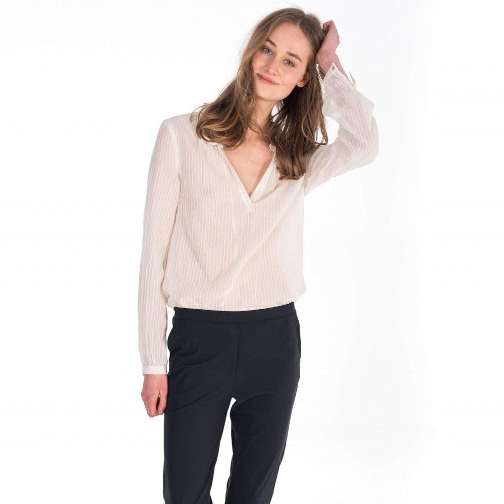 Feminine voile tunic blouse