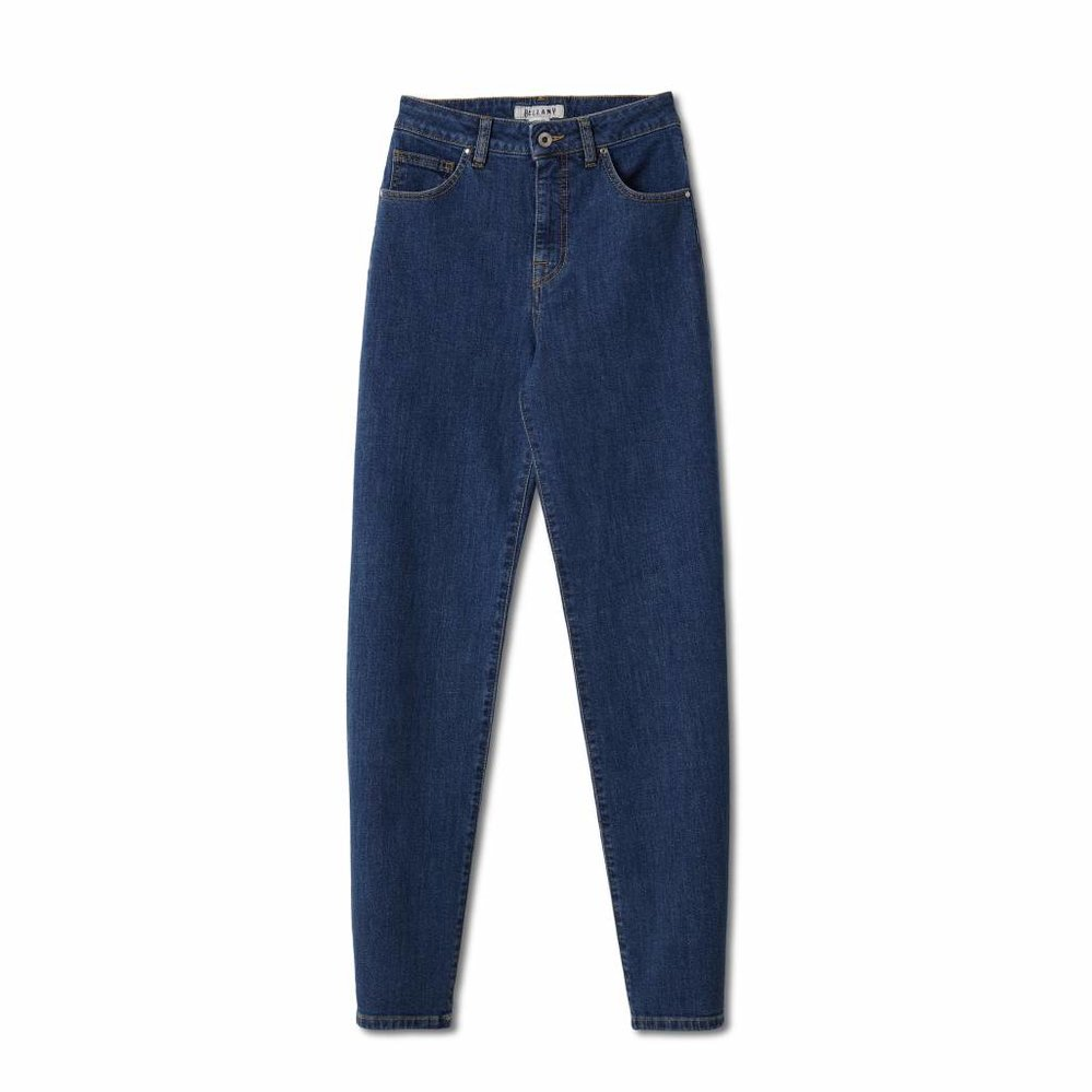 luxury high waist mom jeans