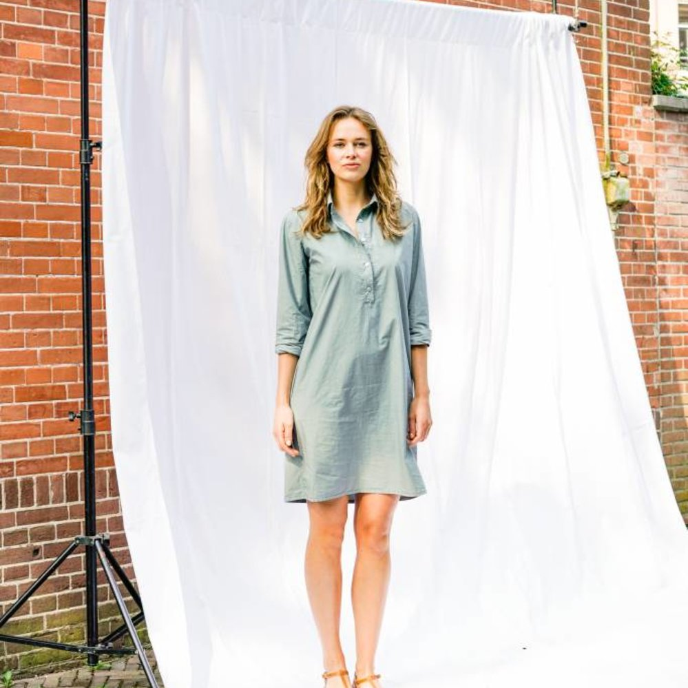 100% cotton shift dress with pockets