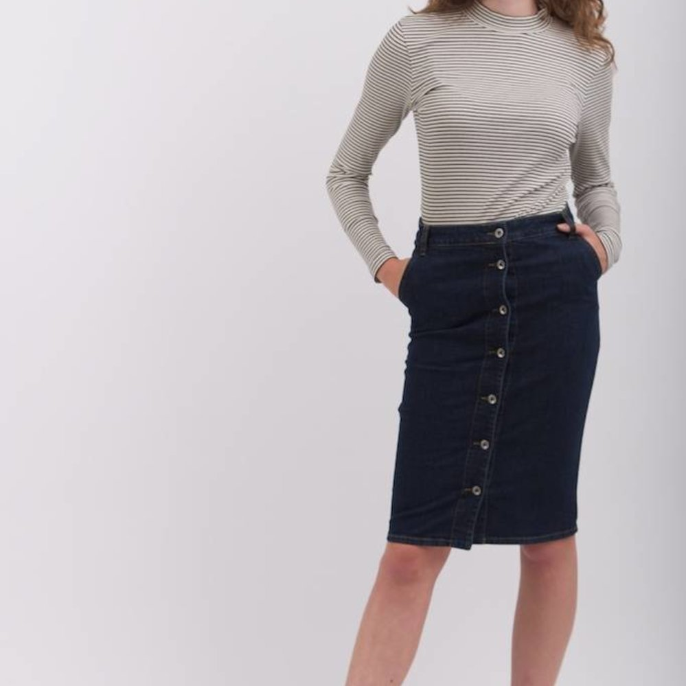 Luxury slim fit pencil skirt high stretch