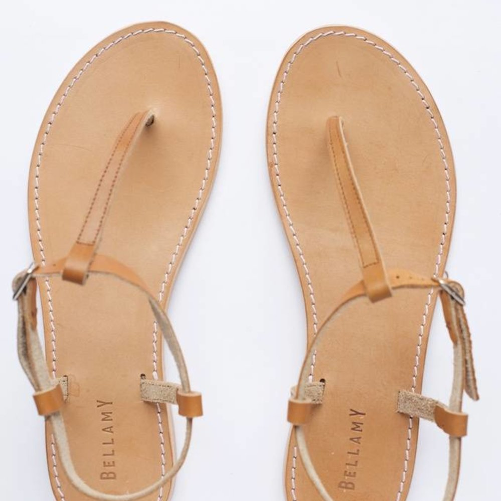 st Tropez style leather sandal