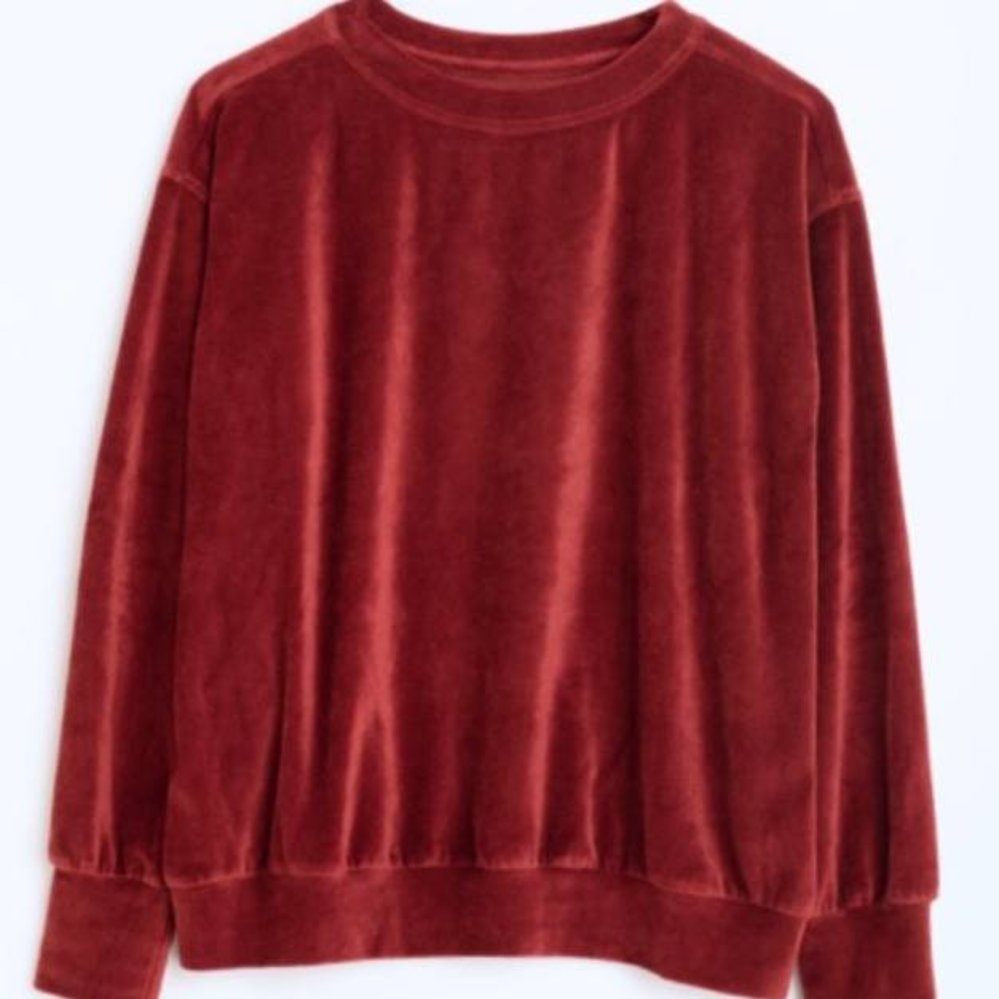 Soft velvet sweater