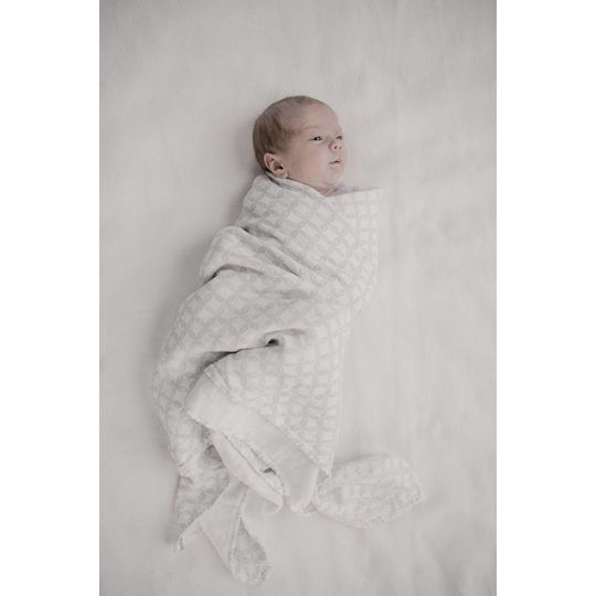 mies & co swaddle blanket geo circles