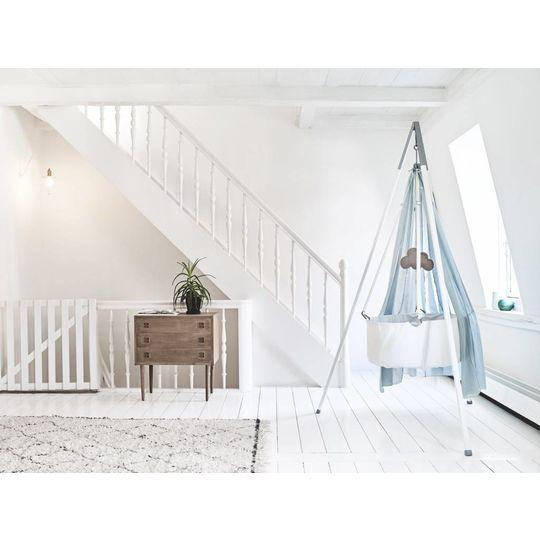 leander cradle white/beige