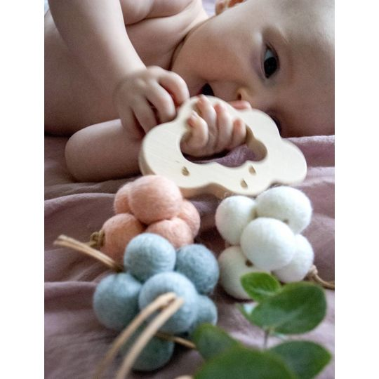 loullou 1st play wool clouds pink