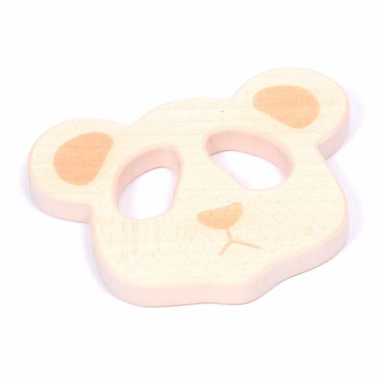 loullou wooden teether panda