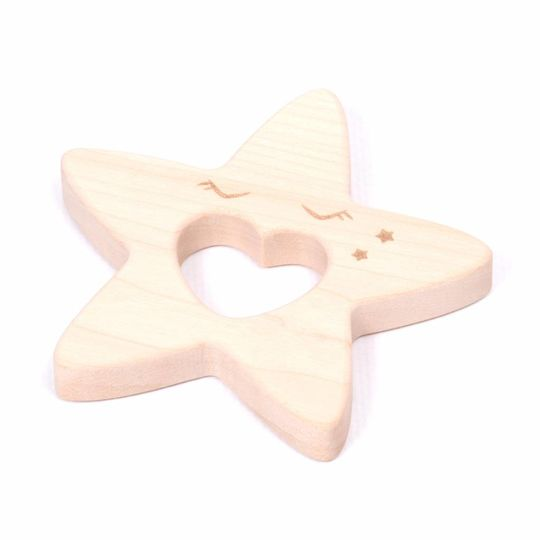 loullou houten bijtring ster