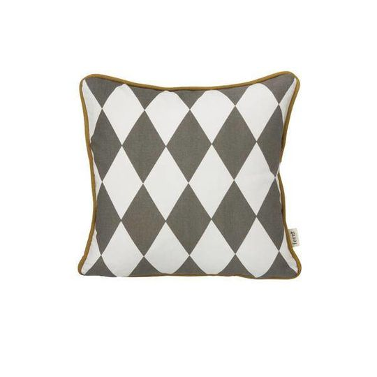 ferm living geometry cushion grey