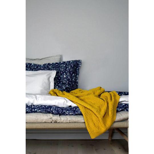 garbo&friends ollie mustard cotton blanket