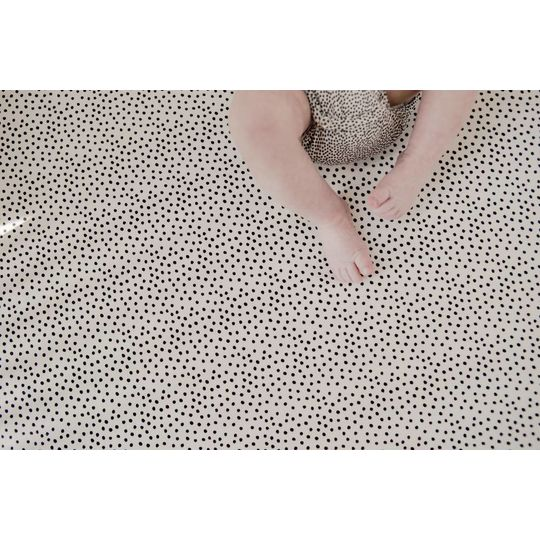mies & co hoeslaken cozy dots offwhite 60x120 cm
