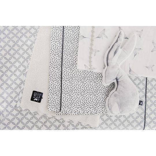 mies & co soft teddy blanket geo dots offwhite
