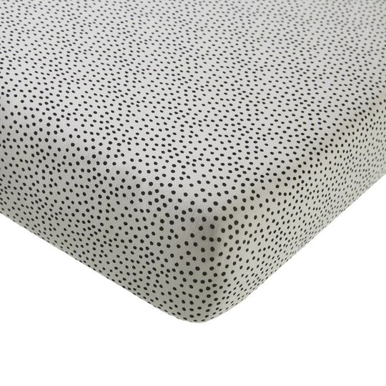 mies & co hoeslaken wieg cozy dots offwhite 40x80 cm