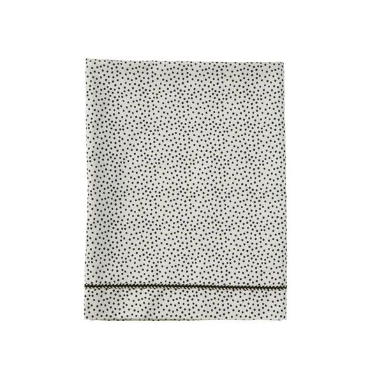 mies & co flat sheet cradle cozy dots offwhite
