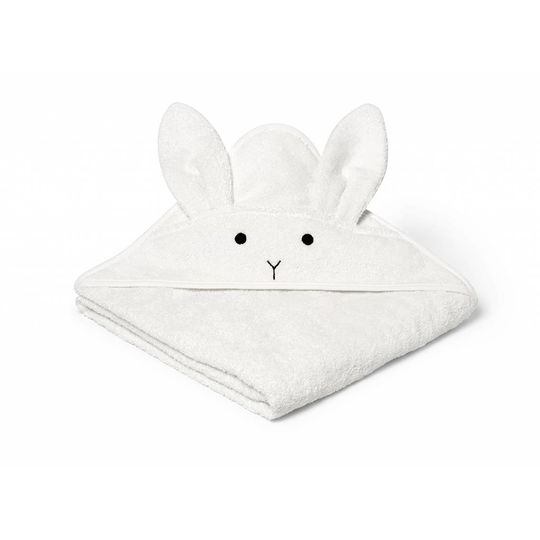 liewood towel rabbit cream 100x100