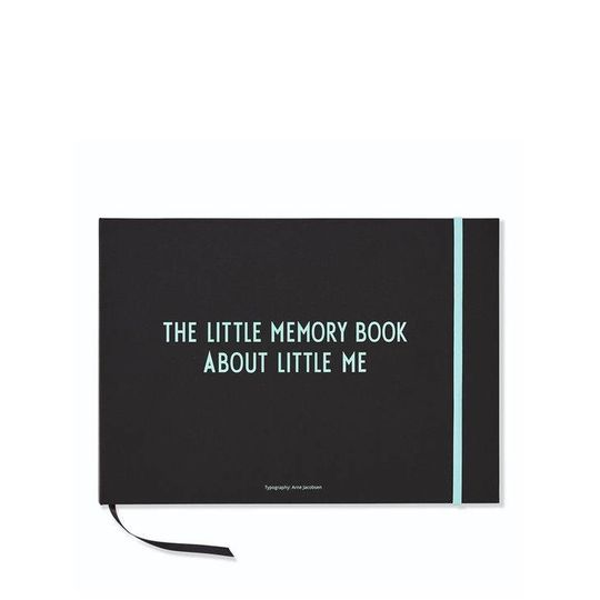 design letters little memory book about me turquoise