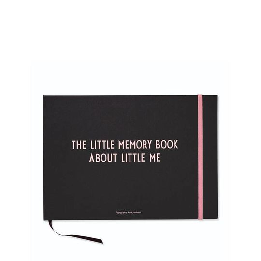 design letters little memory book about me pink