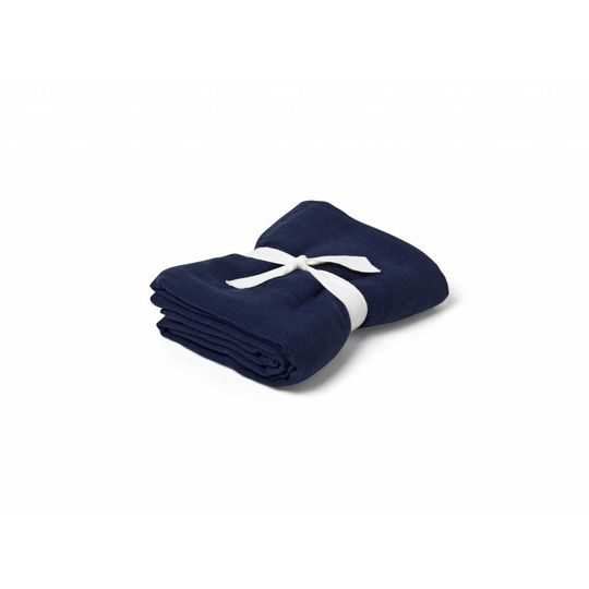 liewood molly swaddle solid navy blue 120x120