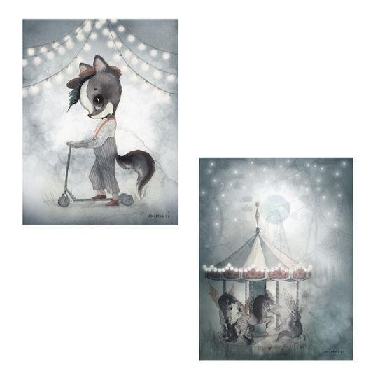 mrs mighetto 2 pack carousel / mr william 18x24