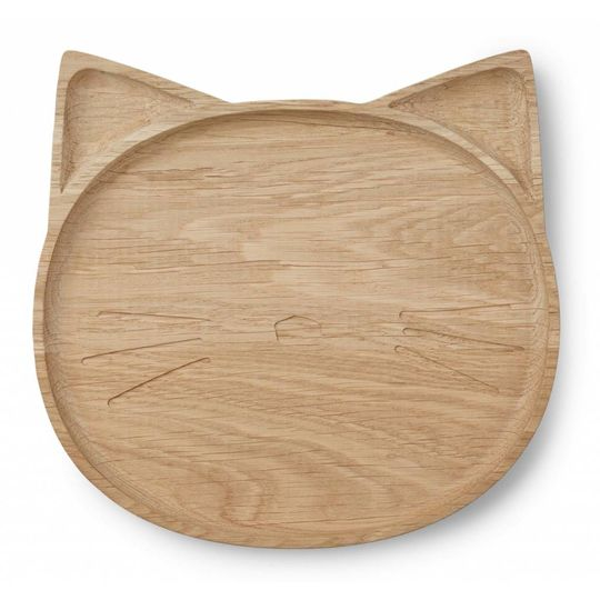 liewood wooden plate cat