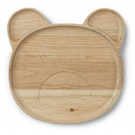 liewood wooden plate mr bear