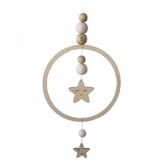 loullou mobile / wall hanger star