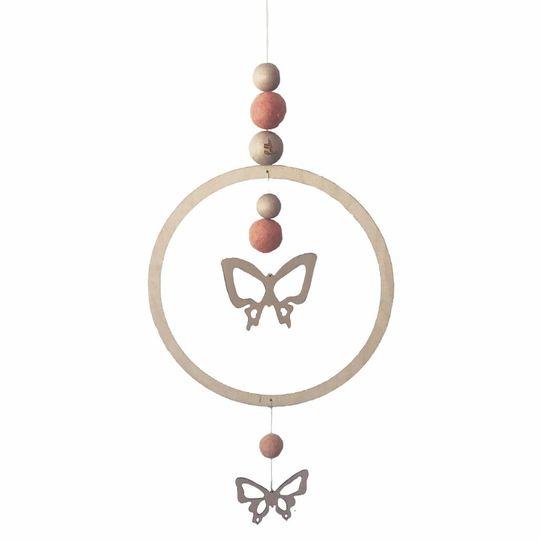 loullou mobile / muur hanger vlinder