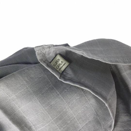 super carla muslin doek grijs 70x70