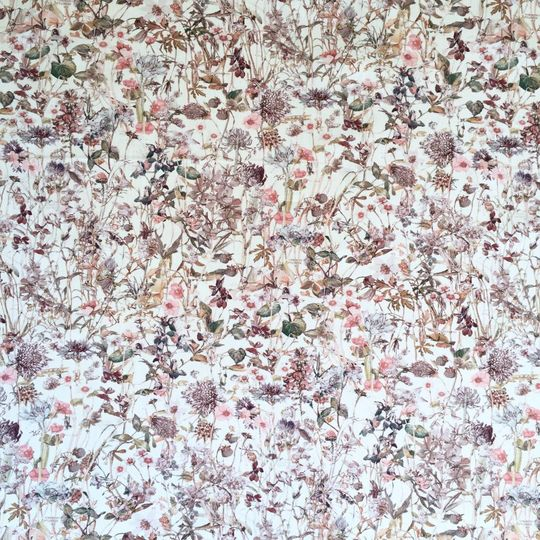 super carla fitted sheet baby wild flowers pink 60x120