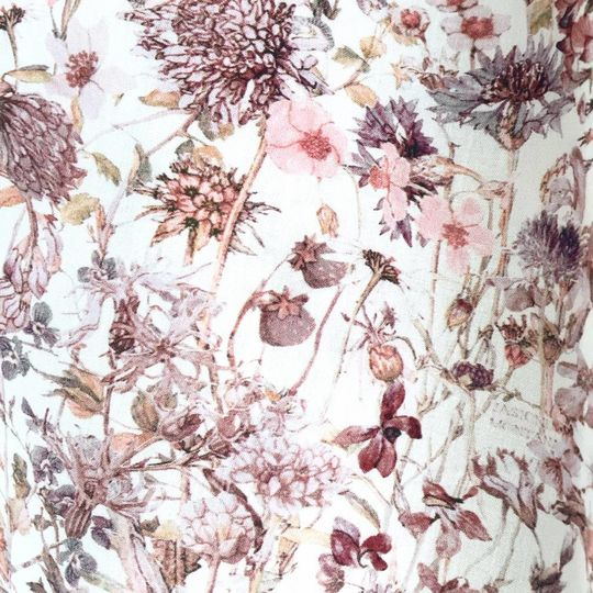 super carla fitted sheet junior wild flowers pink 70x140