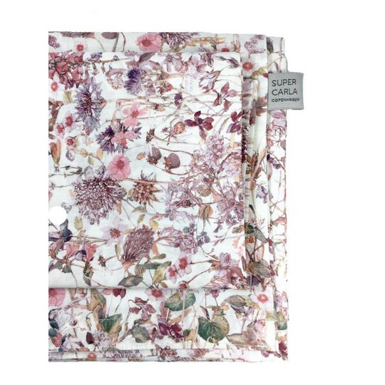 super carla dekbedovertrek wild flowers rose adult 135x200