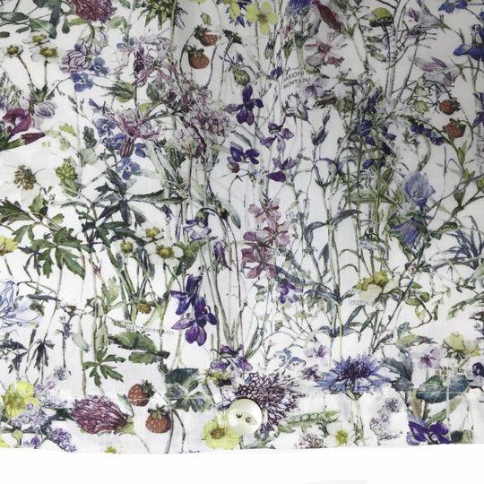 super carla dekbedovertrek wild flowers blauw adult 135x200