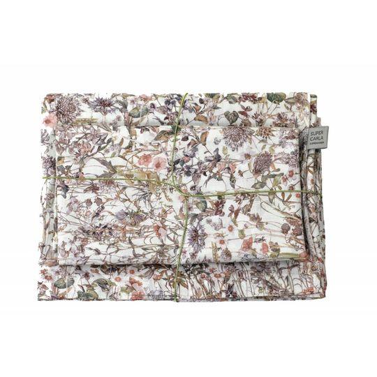 super carla duvet cover wild flowers rose junior 100x140