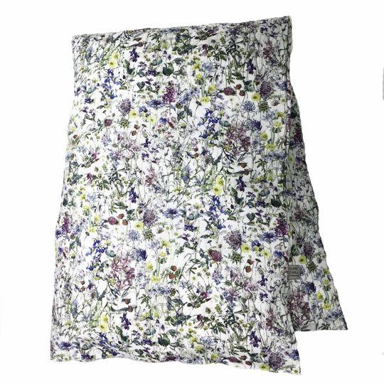 super carla dekbedovertrek wild flowers blauw junior 100x140