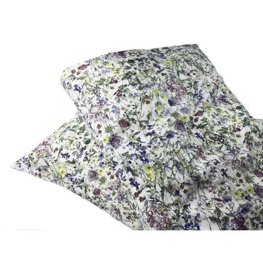 super carla dekbedovertrek wild flowers blauw baby 70x100