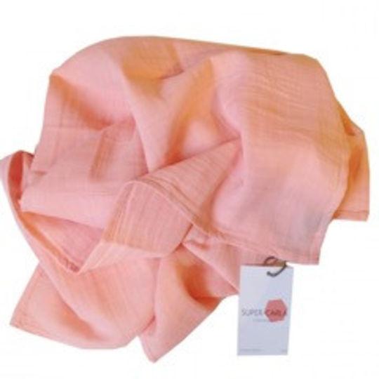 super carla muslin doek rose 70x70