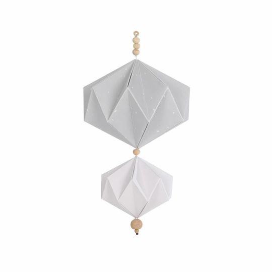 BORN copenhagen origami mobile grijs - wit