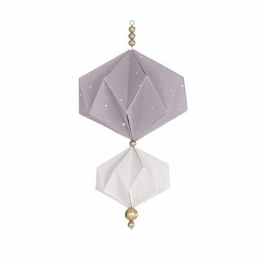 BORN copenhagen origami mobile dusty lavendel - wit
