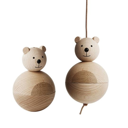 OYOY bear nature wooden figure