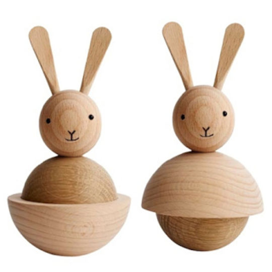 OYOY rabbit naturel houten figuur