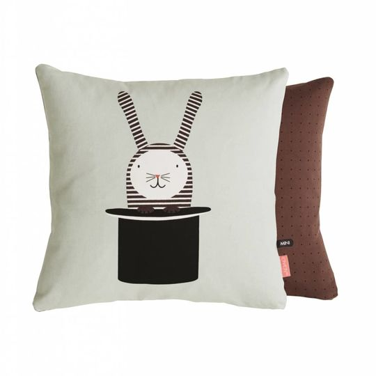 OYOY rabbit in a hat cushion 40x40