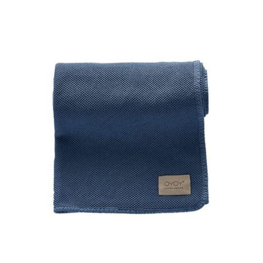 OYOY bobo blanket flint stone blue 80x100