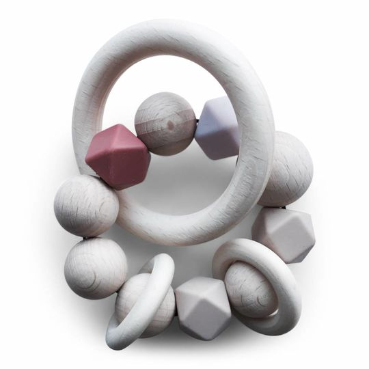 play at slaep rattle / teether basic collection ruby