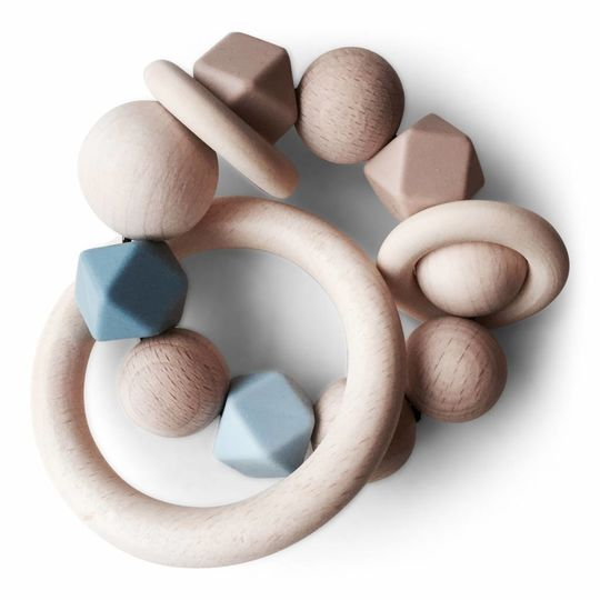 play at slaep rattle / teether basic collection blueberry
