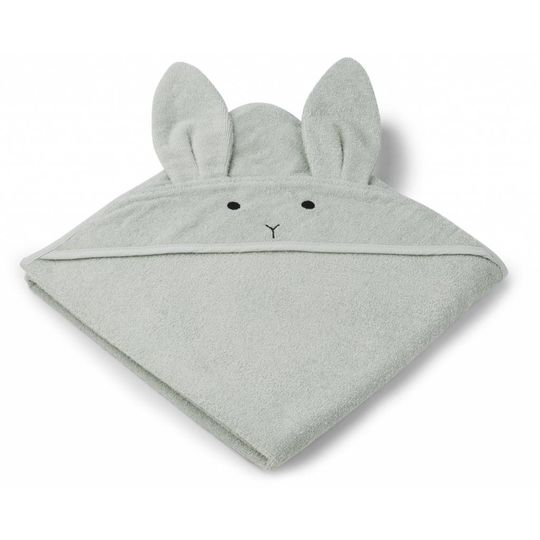 liewood badcape rabbit dusty mint 100x100