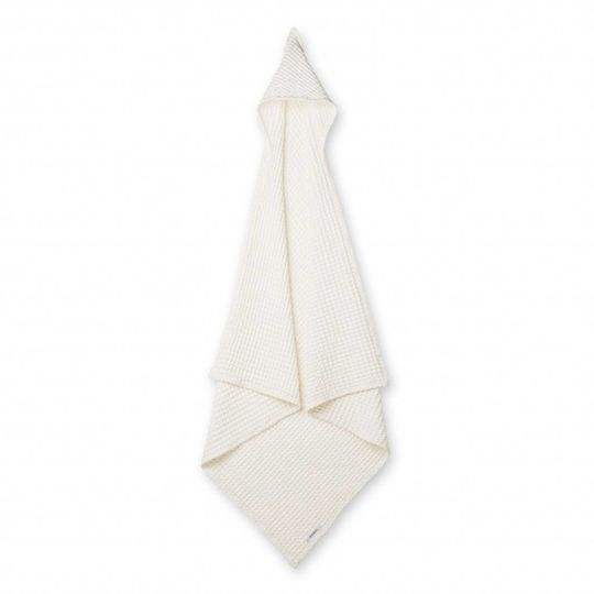 liewood saga hooded towel crisp white